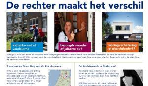 Open dag bij de Nederlandse rechtbanken