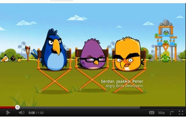 Angry Birds promoten Google