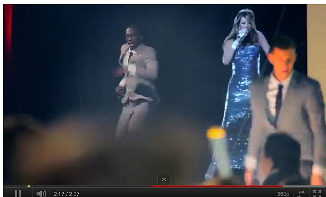 Mariah Carey in kerst-hologram