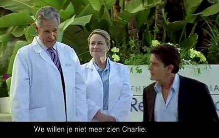 Charlie Sheen aan Nederlands bier