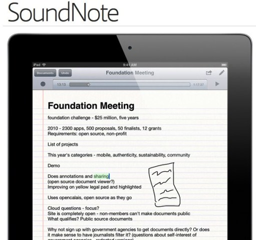 SoundNote: Journalistiek gereedschap