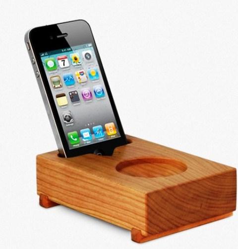 iPhone 'versterker' van hout!