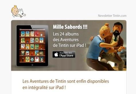 Kuifje op iPad