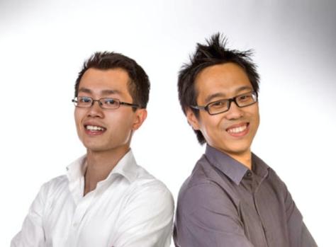 De twee initiatiefnemers voor Klusup.